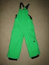 Quiksilver 2017 BRAND NEW Youth Boys Boogie Bib Snow Pants Green Size 4/5