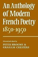An Anthology of Modern French Poetry (1850-1950) Broome/Chesters Paperback