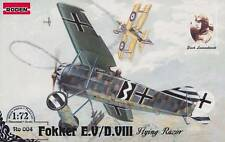 Fokker E.V/D.VIII Flying Razor German monoplane  world war 1          1/72 Roden