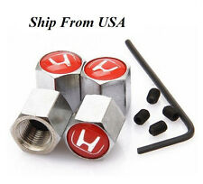 Anti-Thief Stainless Steel Car Tire/Wheel Stem Air Valve Cap Honda Red