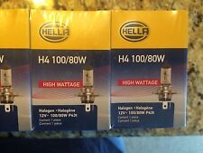 Hella H4 100/80W 1 Pair of TWO Bulbs, FREE SHIPPING!