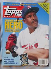 Spring 1993 Topps Magazine Dave Winfield  5x7 Winfield Rc Card