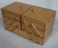 mid century design - Nähkasten Utensilienbox Buche Nähkästchen 60er - sewing box