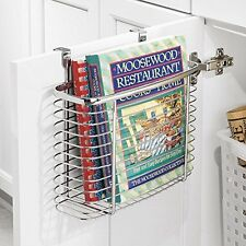 New Kitchen & Office Cabinet Storage Organiser Basket, Cupboard Door Tidy Holder