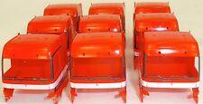 10 x CAMIÓN Cabina Mercedes 1843 rojo Carga Arte Decoración 1:87 H0 å