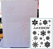 Christmas embossing folders - LET IT SNOW embossing folder CTFD3072 Crafts Too