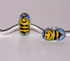 925 STERLING SILVER SINGLE CORE MURANO GLASS ANIMAL BEAD/CHARM- WILLIE WASP