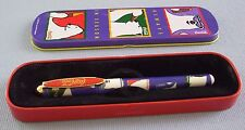 Coca Cola Ballpoint Pen With Metal Case Polar Bears 1995 Ink Is Dried Up