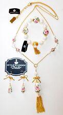 """Brighton My Flat in London """"Queen's Garden"""" Necklace, Bracelet & Earrings $298"""