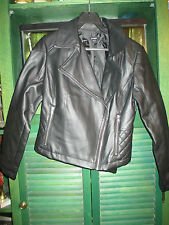 EXPRESS FAUX LEATHER MOTORCYCLE jacket,black size 4,compare at $100.