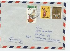 LETTER / LETTRE ASIA ASIE / CHINA CHINE SINGAPORE SINGAPOUR/ GERMANY TOOTTMOOS