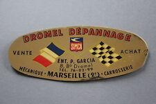 MS Ancien autocollant Dromel SIMCA dépannage mecanique garage Marseille Dromel