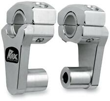 Rox Speed FX Handle Bar Handlebar Pivoting Risers SILVER 2 Rise 1R-P2PPA BMW