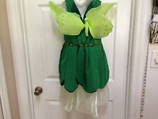 Custom made Tinkerbell Costume size 7-8 with Wings Peter Pan Fairy Dress Up