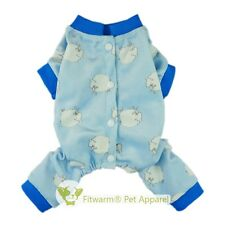 """Fitwarm 12""""Chest Sheep Warm Pet Pajamas for Xsmall Dog Clothes Velvet Coat Pants"""