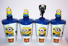Cup topper figures Minions Despicable Me Full set+collectible movie cups!