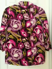 MISSONI For Target Girl's Floral Velour Double Breasted Coat Sz Medium 8 - 10