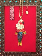 Large Colorful Parrot Necklace - Betsey Johnson Fashion Jewelry - USA Seller