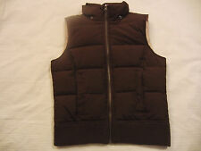 Aeropostale Puffer Feather Down Brown & Tan Vest No Hood  Womens Juniors S