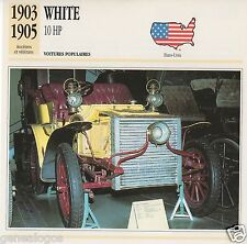 FICHE AUTOMOBILE GLACEE US USA CAR WHITE 10 HP 1903-1905