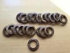 Coconut Linking Ring Connector Wood Round 35mm Light Brown 20pcs Free Ship