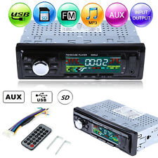 Car Stereo Radio MP3 Player Auto In-Dash Audio FM Receiver USB SD Remote Control