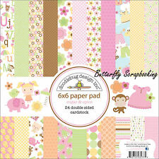Baby Girl Sugar & Spice Scrapbooking 6x6 inch Paper Pad Doodlebug 24 Sheets NEW