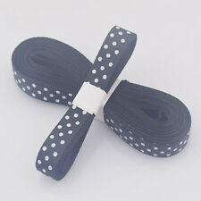 "5yds 3/8""10 mm Black Christmas Ribbon Printed lovely dots Grosgrain Ribbon"