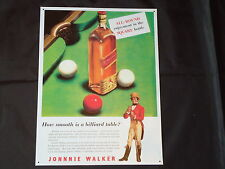 Large Johnie Walker Whisky Metal Sign/ Tin Whiskey Scotch-Scotland-Bar Pub Drink