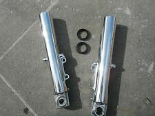 HARLEY DAVIDSON FORK SLIDERS NEW SEALS 2000-2013  POLISHED FRONT FORKS NO EXCHAN