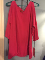 NWT Oh My Gauze Size 1 Ladder Lagenlook Tunic Top Cotton Open Sleeve (6 colors)