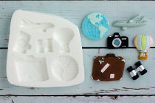 Silicone Mould World Travel Binoculars Plane Suitcase Air Balloon Camera M120