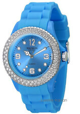 Madison New York Juicy Glamour U4101L5 Damenuhr Silikon Mädchenuhr hellblau neu