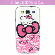Cartoon Hello Kitty w Ribbon Hard Back Case Cover Samsung Galaxy S3 S III & Film