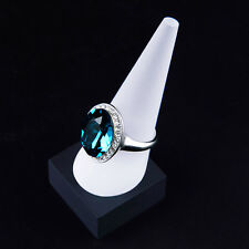White acrylic perspex cone finger ring jewellery display stand holder showcase