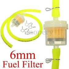 Yellow 6mm Gas Fuel Filter Petrol Pipe Hose Line + 4 Clip Mini Moto Scooter Bike