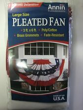Annin  3x6 ft Pleated Fan Bunting American Flag! Great for Decks and Patios!
