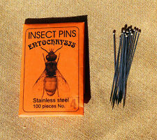 Entochrysis stainless mounting insect pins 100 size 4 entomology beetles bugs