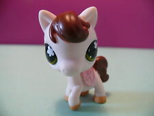 petshop cheval blanc marronc rose / white brown pink horse N° 584
