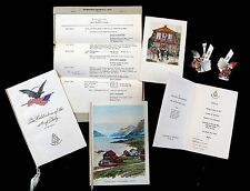4 Menus, Itinerary, 2 Place Cards Hamburg-Amerika  S. S. Reliance 1931