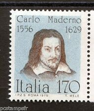 ITALIE ITALIA 1979, timbre 1386, CELEBRITES, C. MADERNO, neuf**, VF MNH stamp