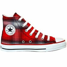 CONVERSE ALL STAR CHUCKS SCHUHE EU 39,5 UK 6,5 PLAID LIMITED EDITION KARIERT ROT
