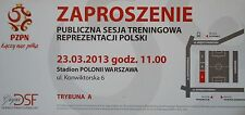 TICKET 23.3.2013 Training Nationalteam Polska Polen