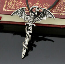 Men's Flying Dragon Sword Titanium Stainless Steel Pendant Necklace 2016