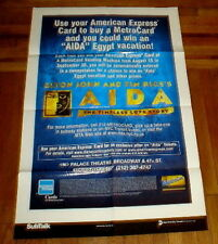AIDA ELTON JOHN OLD BROADWAY NYC SUBWAY POSTER METROCARD