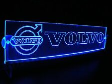 24 Volts VOLVO With LOGO ENGRAVED ILLUMINATING BLUE LED NEON PLATE 24V/5W.