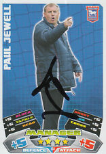 IPSWICH TOWN HAND SIGNED PAUL JEWELL 11/12 MATCH ATTAX CARD.