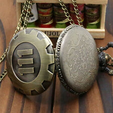 Bronze Pocket Watch Fallout 4 Vault 111 Electronic Games Necklace Chain ONE
