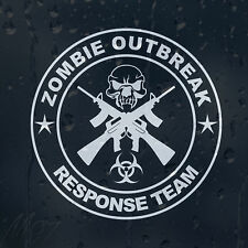 Zombie Skull Outbreak Response Team Gun Machine Car Decal Vinyl Sticker