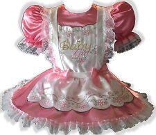 """Natasha"" CUSTOM FIT Satin Adult BABY GIRL Sissy Dress & Pinafore LEANNE"